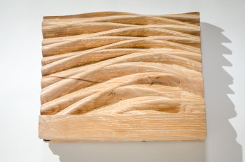 Abstract alder wood carving wall art by Tim Celeski